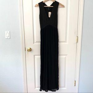Forever 21 Black Maxi Bandage Chiffon Dress